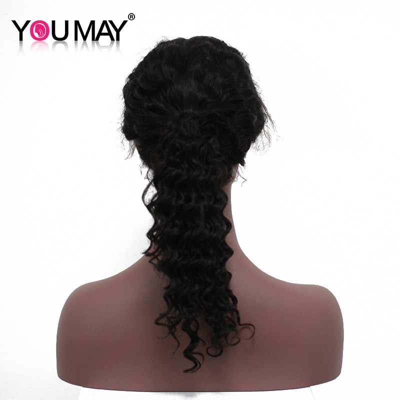 New Arrival 360 Lace Frontal Wig With Baby Hair Peruvian Deep Wave 360 Full Lace Frontal Wig For Black Women 7A Full Lace Wigs