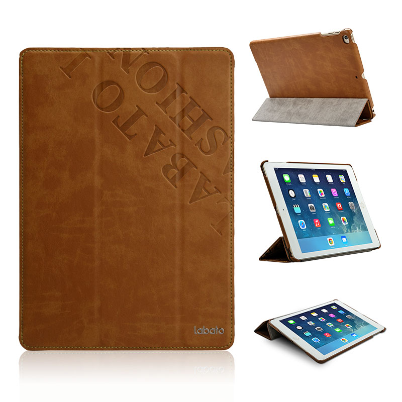 Labato Leather Case iPad Air & 2 Luxury Smart Cover Fashion Pattern Stand Apple 5 6 Protective Shell Skin - Jisoncase official store