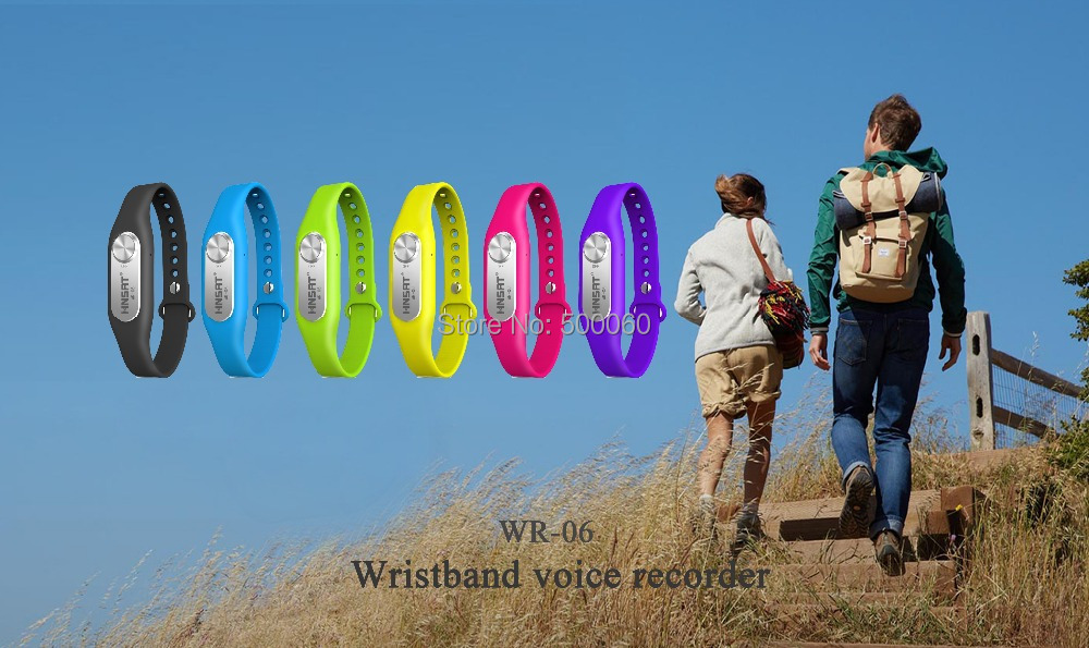Colorful hidden wristband voice recorders Hnsat WR-06(China (Mainland))