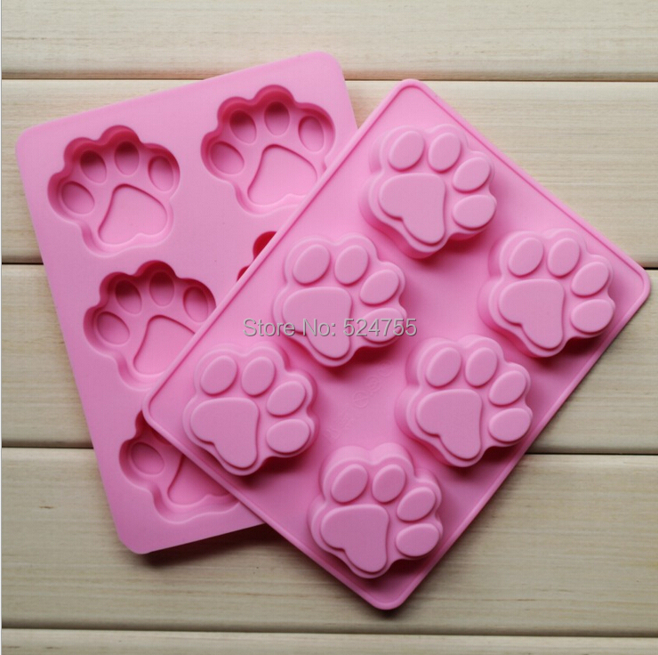New Silicone 6 Holes Cat Claws Shape Cake Decorating Bakeware Mold Soap Chocolate Kitchen Cooking Tools Food Dessert Making(China (Mainland))