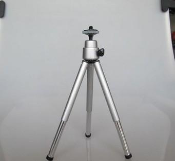 20pcs/lot Mini Travel Aluminum Metal Lightweight tripod Support Stand Mount for Digital Camera on sale(China (Mainland))