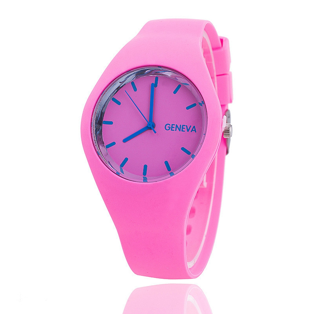 Ice Cream Color Ultra-thin Fashion Sport Silicone Strap Leisure Watch Girl Wristwatch Women Jelly Watches Halloween Gifts(China (Mainland))