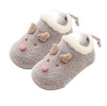 Calcetines antideslizantes para bebés y niñas, calcetines cálidos de dibujos animados, Zapatos, zapatillas, nuevos calcetines para bebés, lindos calcetines de felpa para la habitación de la niña(China)