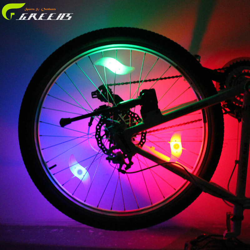Mixed color Bicycle Spoke bright light night Tire Tyre Wheel LED Bright Lamp flashlight Cycling Bike Silicone Spoke Wire Light(China (Mainland))