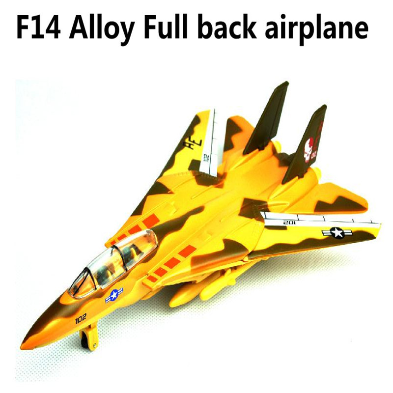 2015 Sale,F14 plane, 1:43 scale alloy pull back Airplane model Toy Vehicles , Diecasts Airplanes toys, free shipping(China (Mainland))