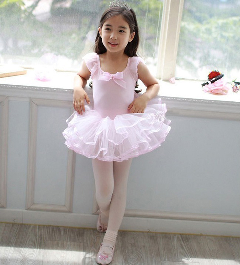 Professional Girls Tutu Ballet Dancing Skirt Girls Lovely Bowknot Sleeveless Ballet Costume Cheap Children Ballet Tutu Dresses(China (Mainland))