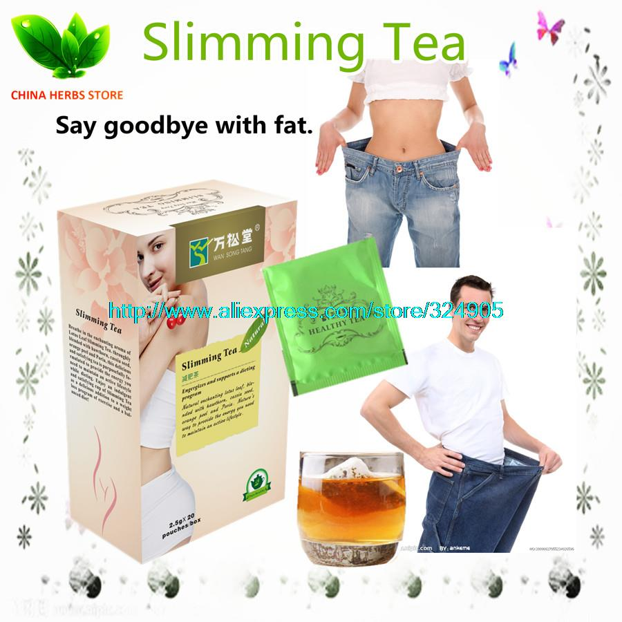 2 boxes 40 packs Slimming Tea high fat medical tea weight reducing tea weight loss