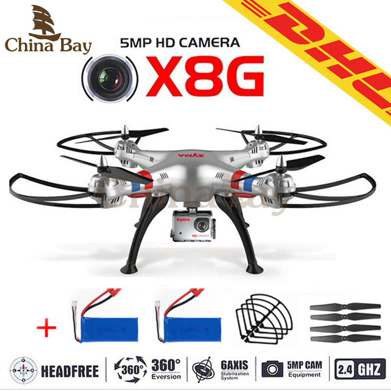 Гаджет  Newest Syma X8G 2.4G 4ch 6 Axis Venture with 5MP Wide Angle Hd Camera RC Quadcopter RTF RC Helicopter Battery And Blades As Gift None Игрушки и Хобби