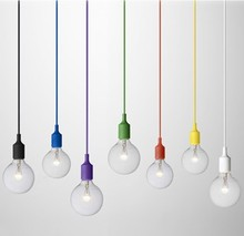 High Quality E27 Colorful Silicone Lamps Holder Pendant Lamp 14 Colors DIY Pendant Light+100cm Cord+Ceiling Base Free shipping(China (Mainland))