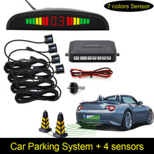 1Set Car LED Parking Sensor Kit Display 4 Sensors for all cars Reverse Assistance Backup Radar Monitor System(China (Mainland))