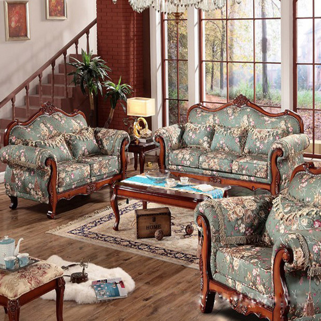 Buy european oak luxurious villa fabric American classic furniture company