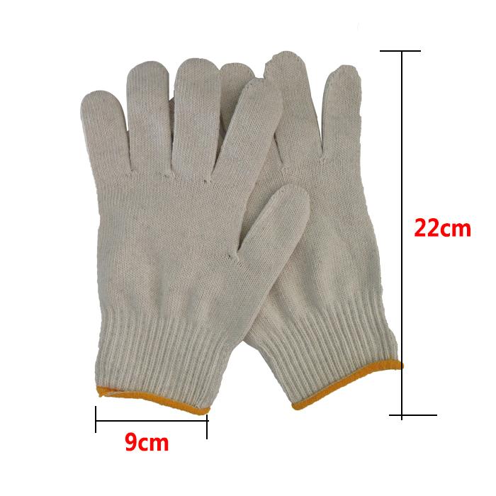 1 piece 100% Cotton Yarn Work Gloves Top Cotton Yarn White Cotton Line Safety Gloves(China (Mainland))