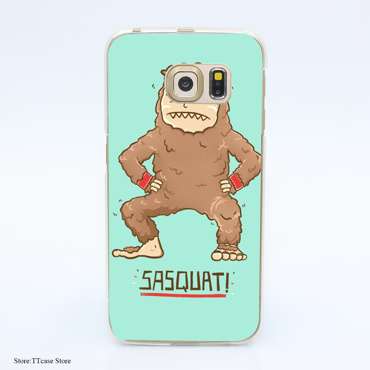 2896G Sasquatch 70k Print Hard Transparent Case Cover for Galaxy S3 S4 S5 & Mini S6 S7 & edge