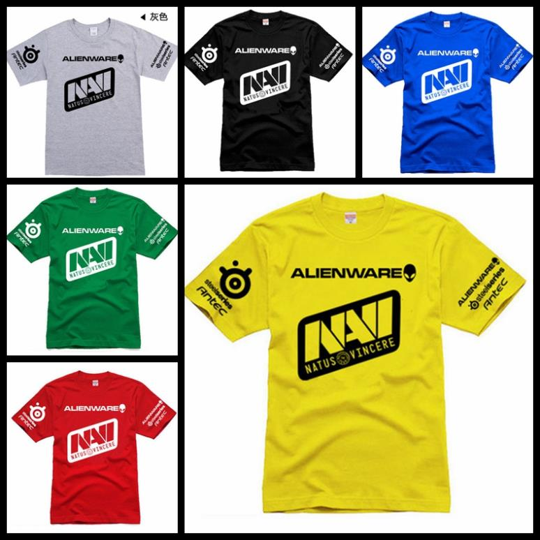 Customization SteelSeries Navi game team jersey T Shirts gaming dota2 navi 100% cotton o-neck short-sleeve Natus Vincere t shirt(China (Mainland))