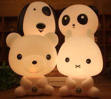 Baby Room Panda/Rabbit/Dog/Bear Cartoon Night Light Kids Bed Lamp Sleeping Night Lamp Table Lamp For Children With Bulb(China (Mainland))