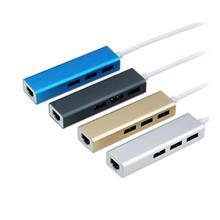 Del USB 3.0 to RJ45 Lan Card Gigabit Ethernet Network Adapter+3 Port Hub for Macbook Mar08(China (Mainland))