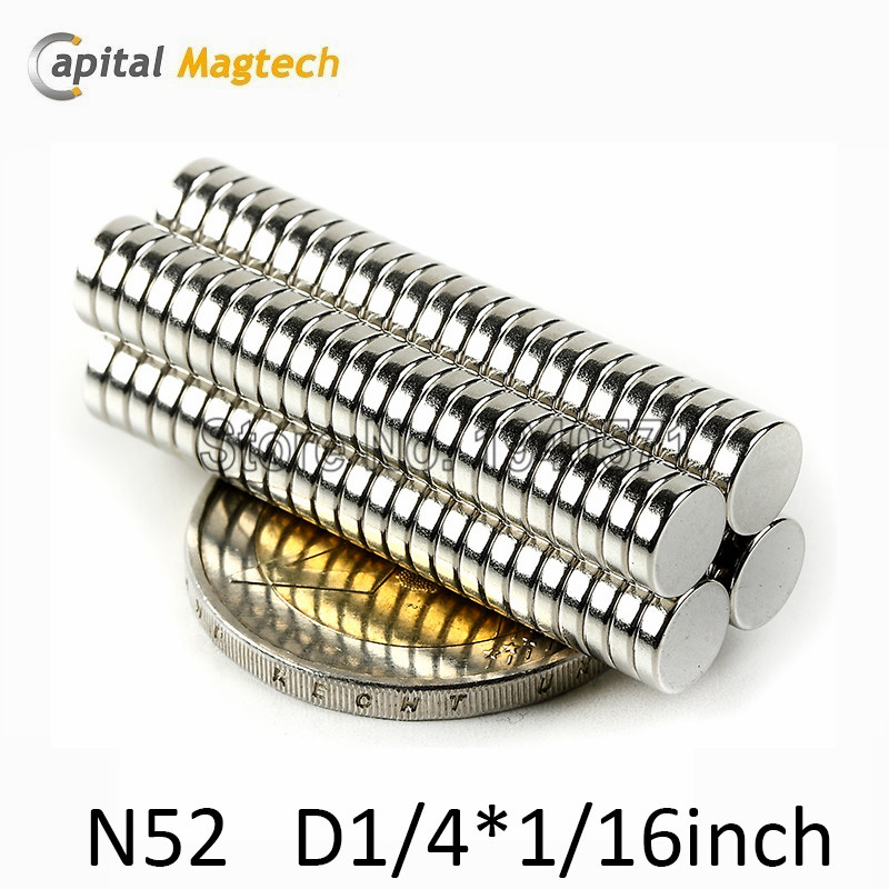 200pcs N52 Disc 1/4*1/16 inch Super Strong Rare Earth Neodymium Magnets with free shipping<br><br>Aliexpress