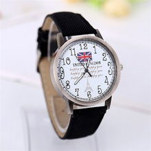 Lowest price Stylish Denim Fabric Women Dress Watch Unisex Quartz Watches Men Sports Watches  Gold Round wristwatch Design hours
