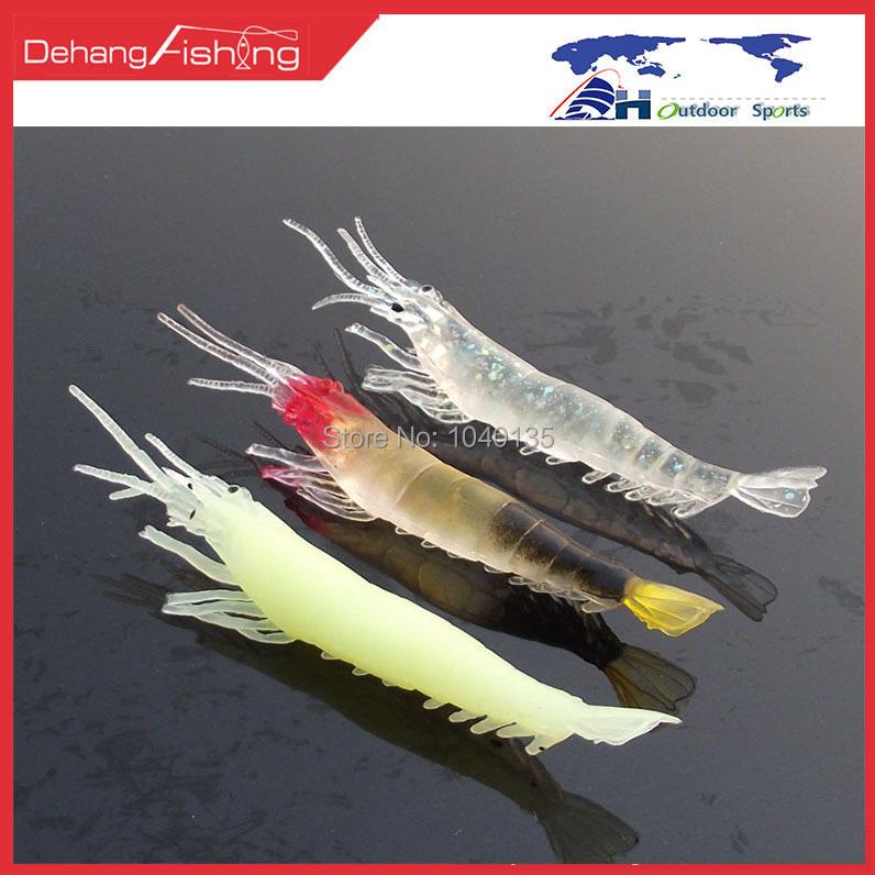 Lida belt shrimp luminous shrimp red shrimp 6 ship lure soft bait shrimp lure fishing lure(China (Mainland))