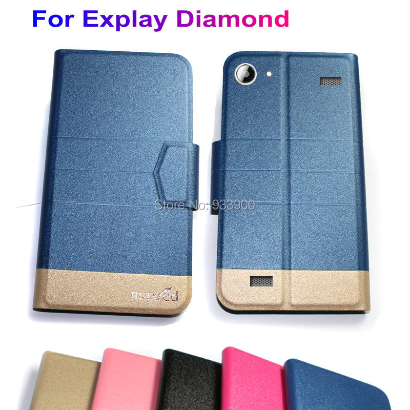"""For 6"""" Smartphone Explay Diamond /NEW Ultra Thin Hot Luxury Fashion PU Leather Protection Case Cover / You choose color(China (Mainland))"""