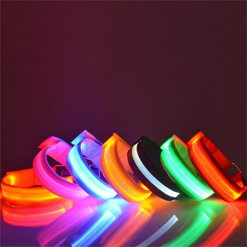 Hot Style Glow Flashing Visible LED Armband Belt Multi Colors Sports Festival Party Cool(China (Mainland))