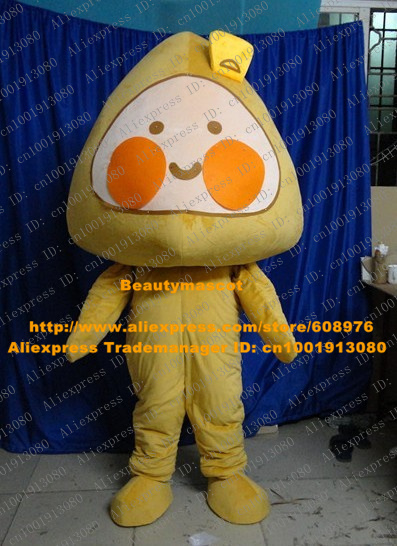 Smart Yellow Steamed Corn Bread Mascot Costume Mascotte Rice Cake Sponge Cake With Small Brown Eyes Happy Face No.3603 Free Ship(China (Mainland))