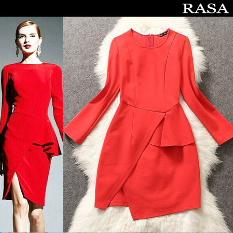 Women's clothing wholesale manufacturers of direct group of winter dress international fashion red tuxedo L42132(China (Mainland))