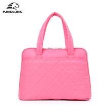 Kingsons Ноутбук Сумка Розовый Водонепроницаемый 14.1 Дюймов сумка Для Ноутбука Женщины Плеча Сумку Дамы Девушки Сумочку(China (Mainland))