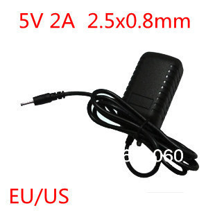 5V 2A DC 2.5x0.8mm Charger Power Adapter for Tablet PC Q88 Ainol Venus Flytouch 3 Flytouch 6 Yuandao N70 N70HD Newsmy T7 P7 P9