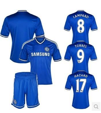 Lampard MATA HAZARD TORRES OSCAR Cole WILLIAN Jersey 13 14 Chelsea Soccer Jersey TOP Thai Quality Home Away Jersey(China (Mainland))