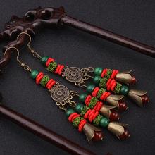 vintage hanBig star handmade Chinese wind traditional agate vinatge dangle earrings ,New Original  Ethnic jewelry earrings,(China (Mainland))