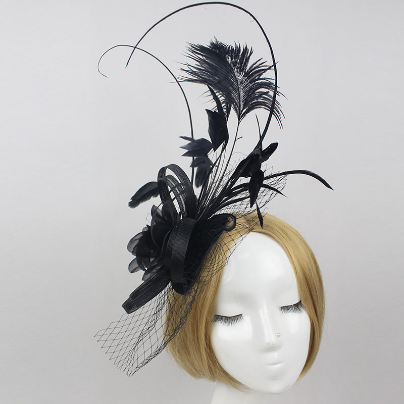 New arrivals black wedding hats and fascinators,hair fascinator for wedding kentucky derby/Races/Party(China (Mainland))