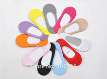 1pair female socks women invisible socks sock slippers 100% cotton shallow mouth summer sock thin solid color a32