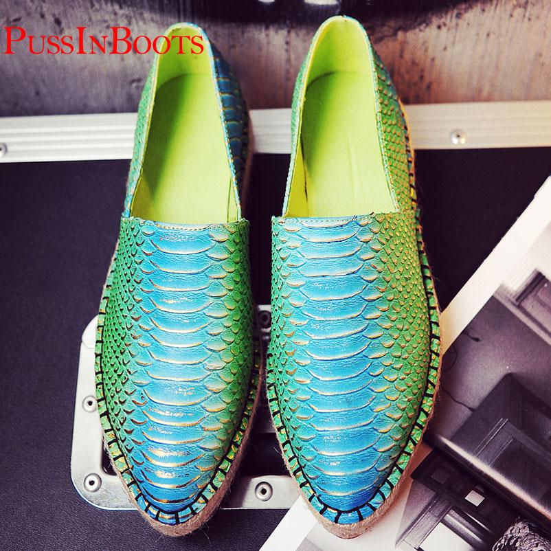 Zapatos de mujer zapatos genuinos alpargatas de cuero mujer alpargata para mujer de los zapatos ocasionales