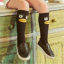 Cute Soft Cotton Kawaii Girls Boys Sock Duck pattern Cartoon Animal Kids Knee High Sock Baby Long Socks for children Leg warmers(China (Mainland))