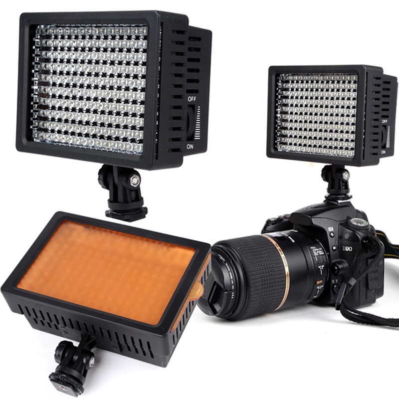 FW1S 160-LED Video Light Studio Camera Photos Video DV Camcorder Hot Shoe Light for Nikon Canon(China (Mainland))