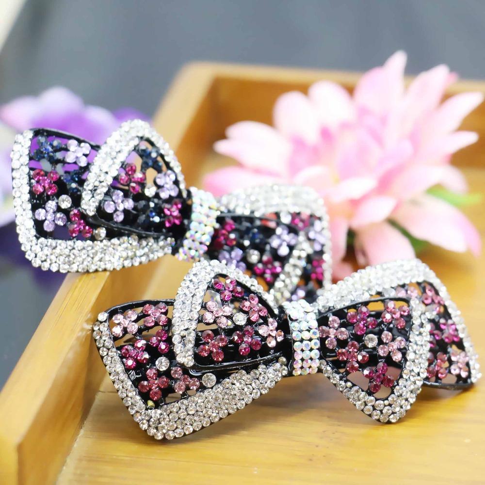 32*79mm Korean style Rhinestone Wedding Headdress Headband Head Bands Headpiece Hair Accessory For women Girls Bows(China (Mainland))