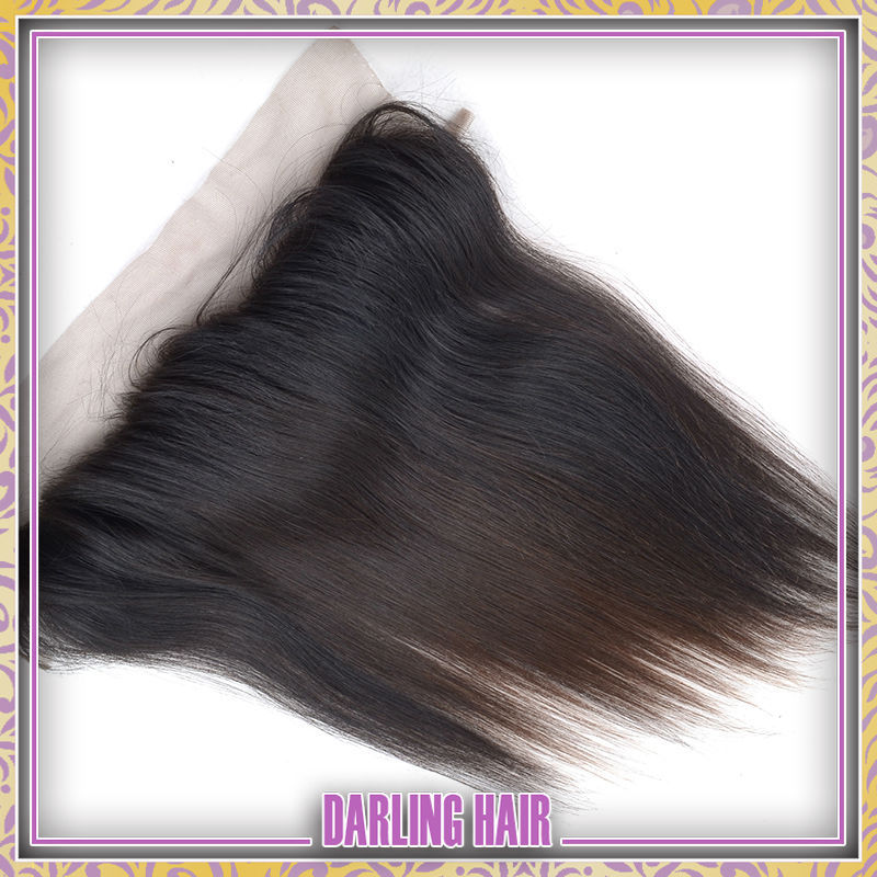 Superior quality brazilian lace frontal lace frontal weave no shedding Brazilian straight hair(China (Mainland))