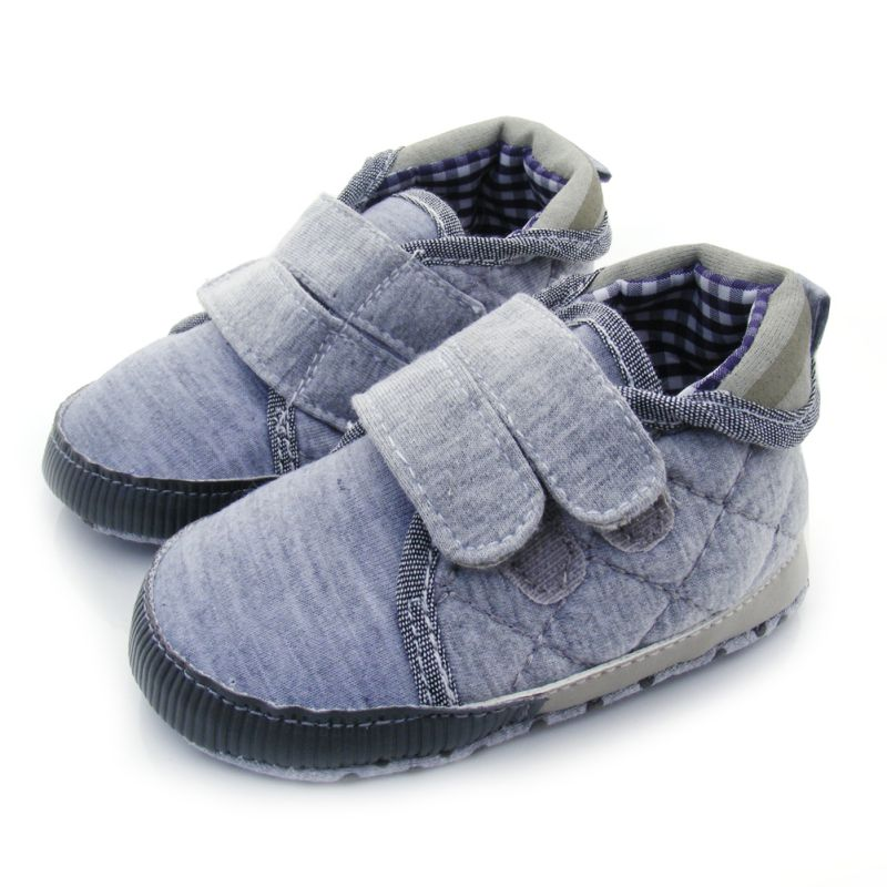 New Baby Soft Soled Crib Shoe Anti-Slip Prewalkers 11-13 Shoes Velcro Walkers Hot Free Shipping