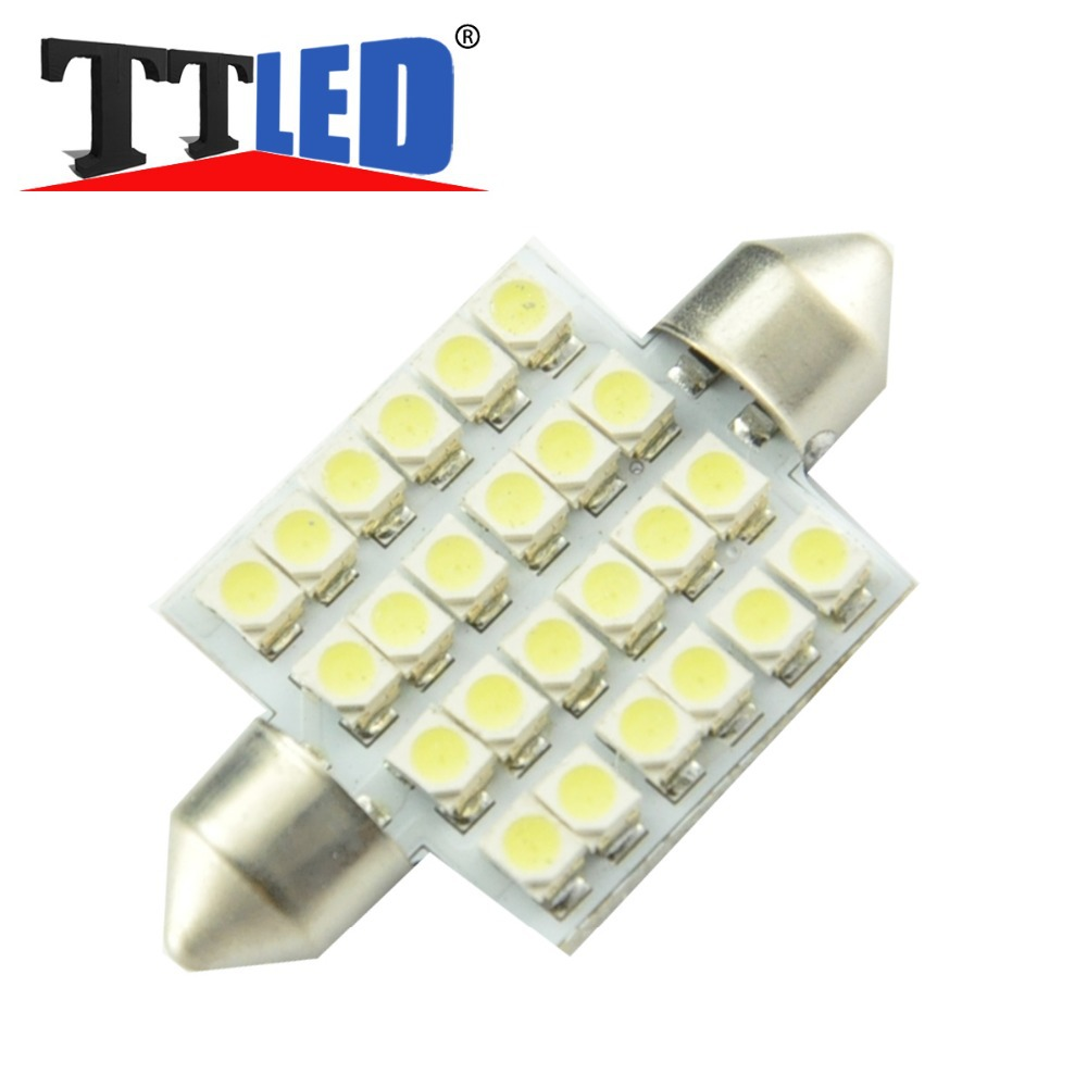 200X Car led Festoon Light 24smd 1210 3528 36mm 39mm 42mm 24 smd led Reading Interior Dome Light Licence Plate blubs #TK118-2(China (Mainland))