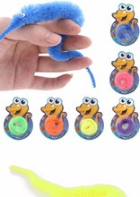 Magic Twisty Fuzzy Worm Wiggle Moving Sea Horse Kids Trick Toy Caterpillar(China (Mainland))