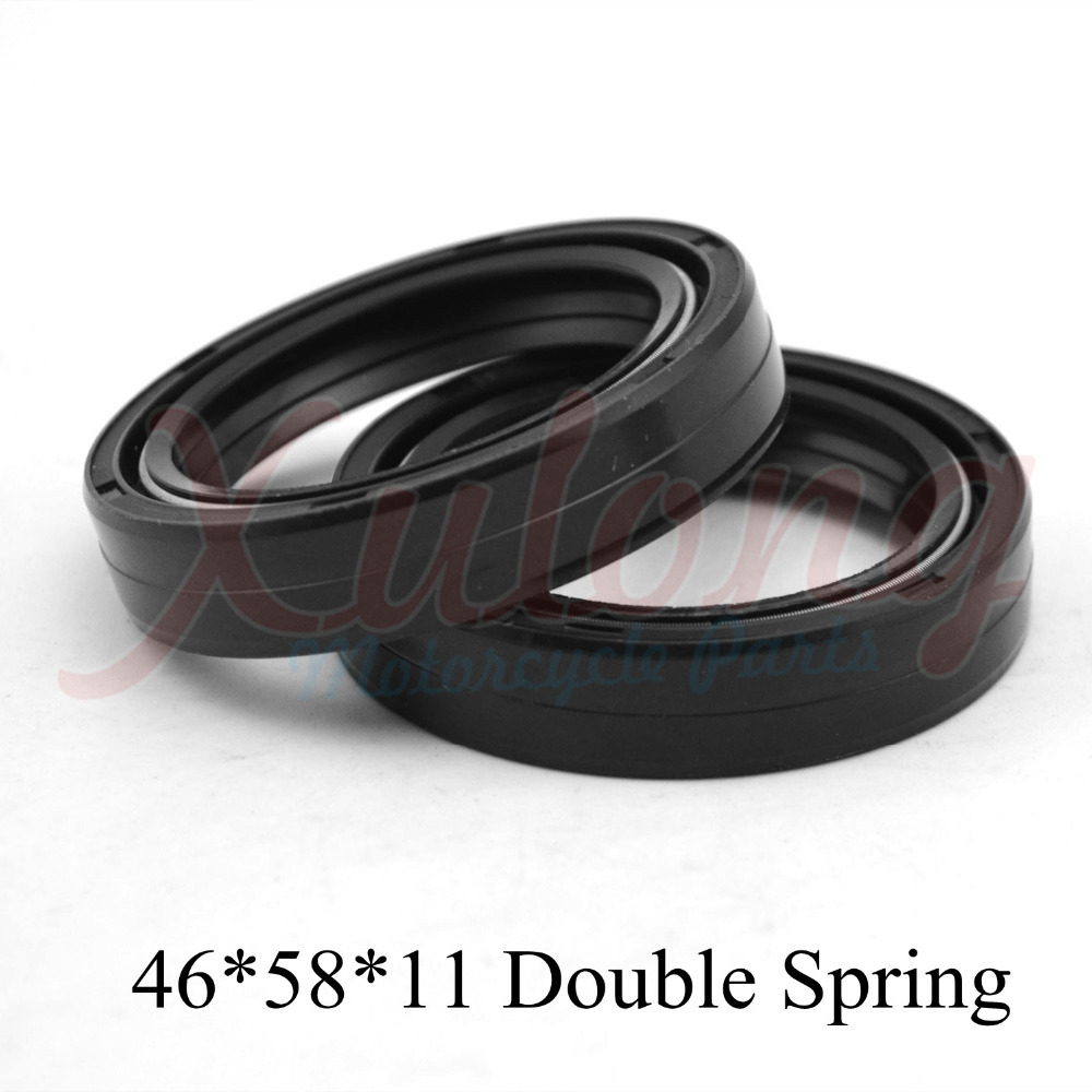 46*58*11 Motorcycle Accessories Front Fork Damper Oil Seal For Suzuki RM125 RM 125 1989 Shock Absorber Oil Seal(China (Mainland))