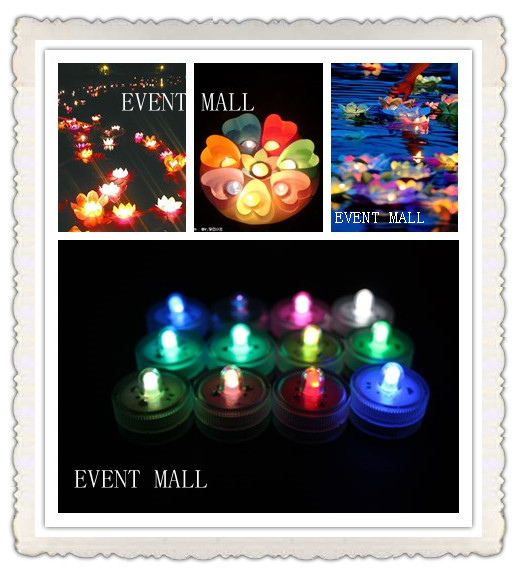 Teal Event & Party LED submersible decor floral light(China (Mainland))