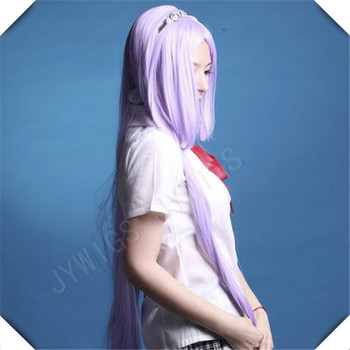 Purple 100CM Synthetic Straight Wig, Perfect for Costumes and Cosplay