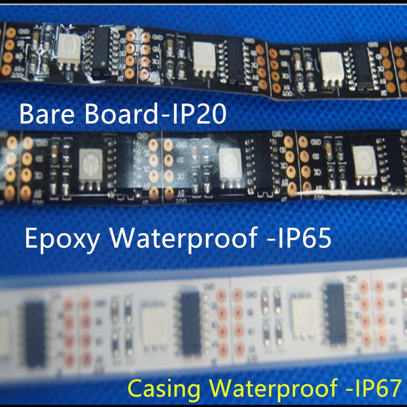 WS2801 IC 32 pixel/m black/white pcb 5V addressable 5m 32 pcs smd 5050 rgb digital ws2801 led strip;programmable free ship(China (Mainland))