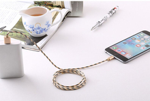 Buy Weaving Pattern Data Line USB Cable iPhone 6 7 iPad iPod 2A Fast Mobile Phone Lightning USB Charger Cable IOS 8/9/10 for $1.98 in AliExpress store