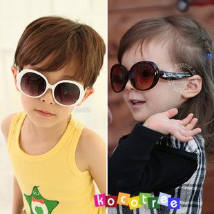 UV400 Protective Eyewear Cool Star Children's Sunglasses kids love most with case Free Shipping