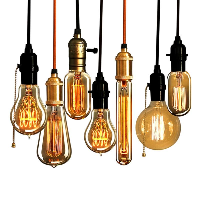Retro Vintage 40W Edison light bulb chandelier E27 220V lamp industrial Incandescent Bulbs Filament Edison light bulb led lamp(China (Mainland))