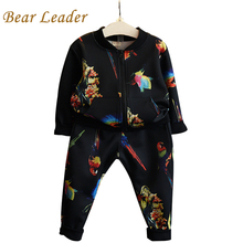 Buy Bear Leader Kids Clothing Sets 2016 Autumn Girls Boys Clothes Casual Active Children Clothing Cartoon Print Jackets+Pants 2Pcs for $11.99 in AliExpress store