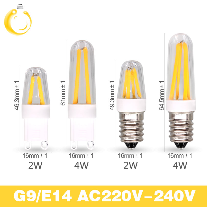 Best quality guarantee 2years G4 LED Bulb G9 LED Bulb E14 G9 Filament Light AC220V g9 e14 corn Bulb Lamp 1.5W 2W 4W Light Lamp(China (Mainland))